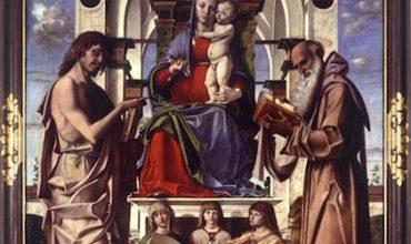 Madonna con Bambino in trono di Bartolomeo Montagna