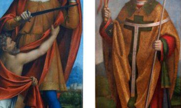 St. Ambrose and St. Martin by Bernardino Luini