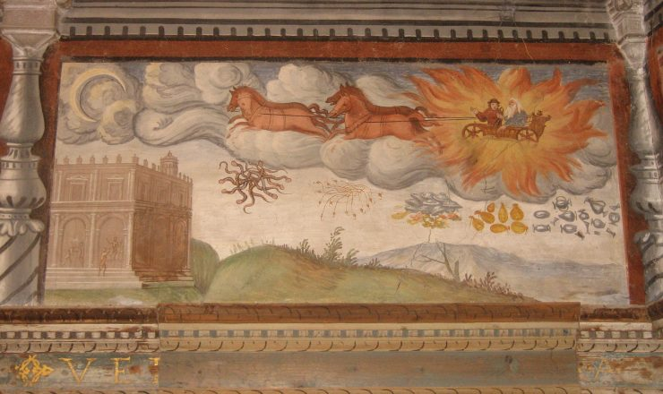 Hall of Honour – Astolfo flying to the moon
