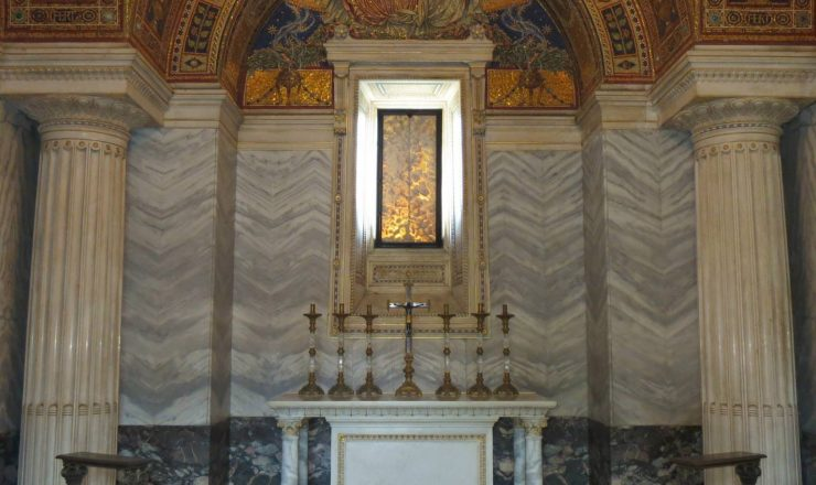 The sacellum and the altar
