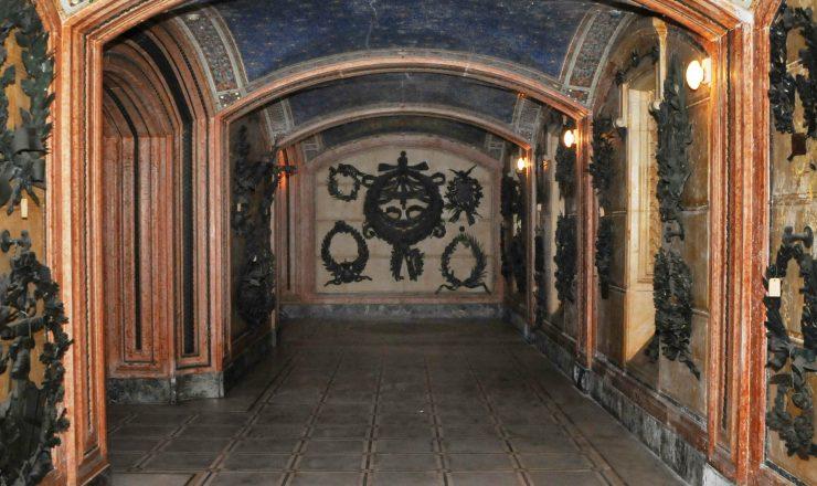 Veduta dell'interno della cripta
